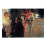 Schubert at the piano by Gustav Klimt Posters