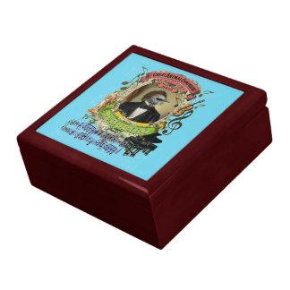 Schubert Bird Animal Composer Schubert Parody Fun Jewelry Box
