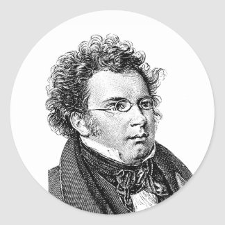 Schubert Classic Round Sticker