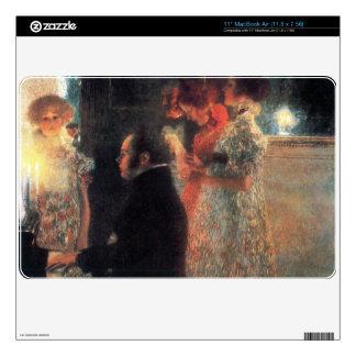 Schubert en el piano de Gustavo Klimt Skins Para elMacBook Air
