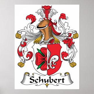Schubert Family Crest Poster