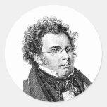 Schubert Pegatinas Redondas