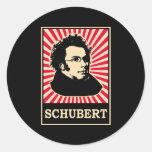 Schubert Round Stickers