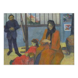 Schuffenecker's Studio by Paul Gauguin 5.5x7.5 Paper Invitation Card