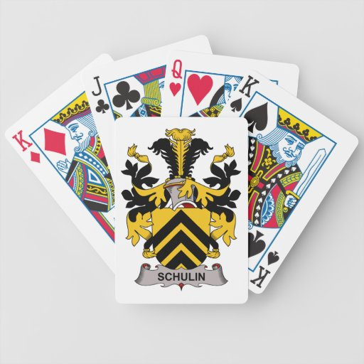 Schulin Family Crest Bicycle Playing Cards