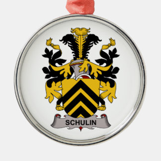 Schulin Family Crest Christmas Tree Ornament