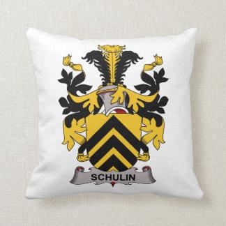 Schulin Family Crest Throw Pillow