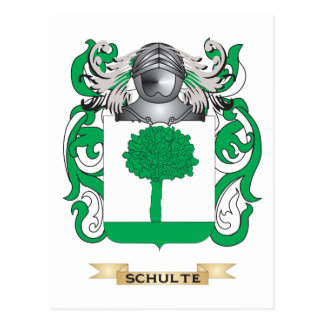 Schulte Coat of Arms (Family Crest) Postcard