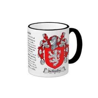 Schulte Family Coat of Arms Mugs