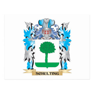 Schulting Coat of Arms - Family Crest Postcard