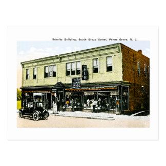 Schultz Building, Penns Grove, New Jersey Postcard