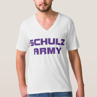 Schulz Army American Apparel Men's White V-Neck T- Shirt