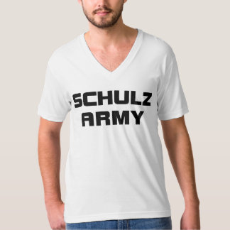 Schulz Army American Apparel Men's White V-Neck T- Tee Shirt