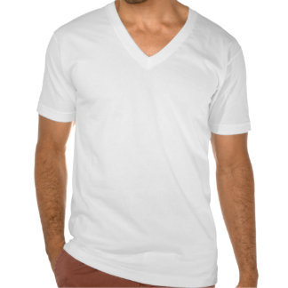 Schulz Army American Apparel Men's White V-Neck T- Tshirt