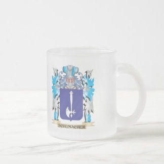 Schumacher Coat of Arms - Family Crest 10 Oz Frosted Glass Coffee Mug