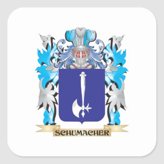 Schumacher Coat of Arms - Family Crest Square Sticker