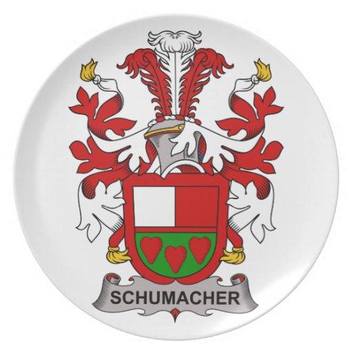 Schumacher Family Crest Dinner Plates