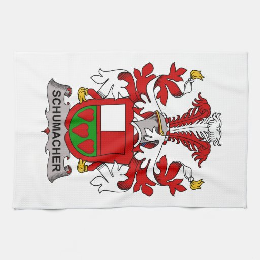 Schumacher Family Crest Hand Towels