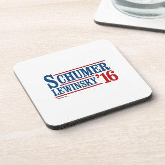 Schumer Lewinsky 2016 Beverage Coaster