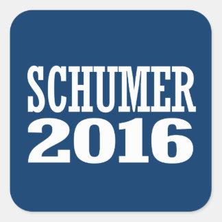 Schumer - tirada Schumer 2016 Pegatina Cuadrada