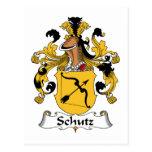 Schutz Family Crest Postcard