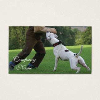 Schutzhund American Bulldog Business Card