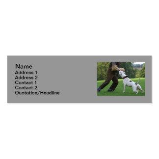 Schutzhund American Bulldog Business Card Templates