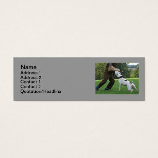 Schutzhund American Bulldog Mini Business Card