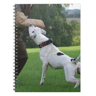 Schutzhund American Bulldog Spiral Notebook