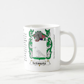 Schwartz Family English Coat of Arms mug