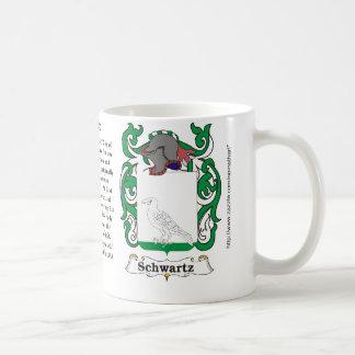 Schwartz Family English Coat of Arms mug