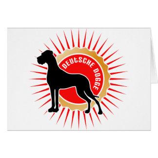 Schwarz rot gold Deutsche Doggen Card