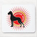 Schwarz rot gold Deutsche Doggen Mouse Pad
