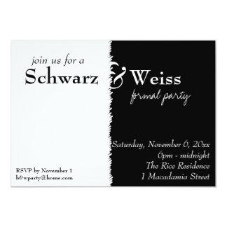 Schwarz und Weiss Theme Party Invitation