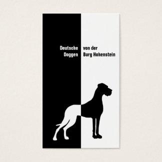 Schwarz weiß Imposant Business Card