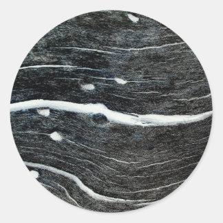 Schwarze Mandel Classic Round Sticker