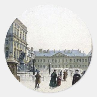 Schwarzenberg Palace by Rudolf von Alt Classic Round Sticker