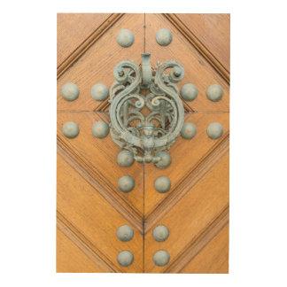 Schwarzenbersky Palace Door Knocker Wood Wall Art