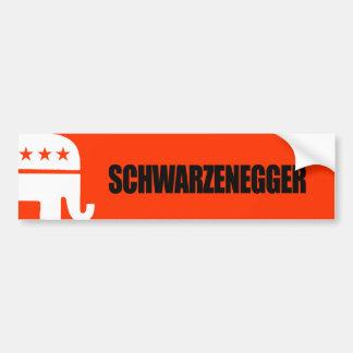 Schwarzenegger Bumper Sticker