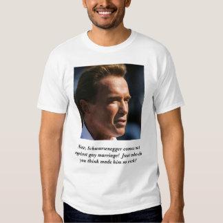 schwarzenegger, Now, Schwarzenegger comes out a... Tees
