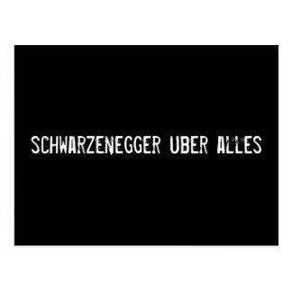 schwarzenegger uber alles postcard