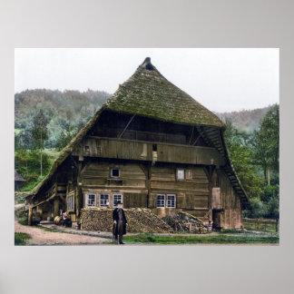 Schwarzwaelder Bauernhaus Póster