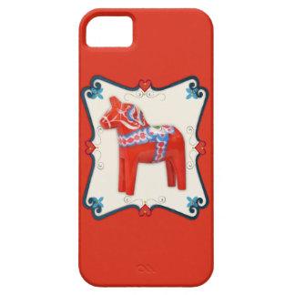 Schwede Dala Pferdevolkskunst gerahmt iPhone 5 Cover