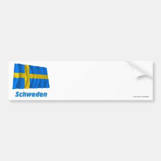 Schweden Fliegende Flagge mit Namen Bumper Sticker