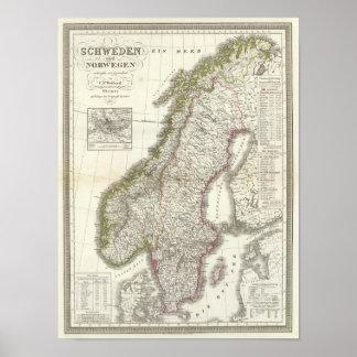 Schweden, Norwegen - Suecia, Noruega Poster