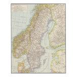 Schweden, Norwegen - Suecia y mapa de Noruega