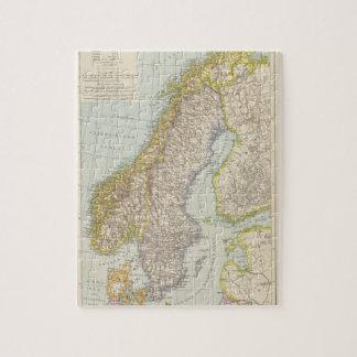 Schweden, Norwegen - Suecia y mapa de Noruega Puzzle