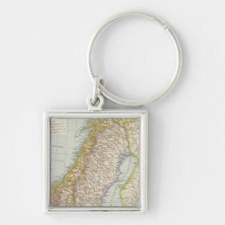 Schweden, Norwegen - Sweden and Norway Map Keychain