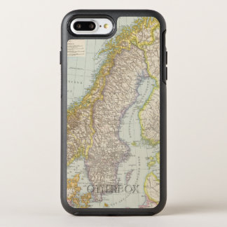 Schweden, Norwegen - Sweden and Norway Map OtterBox Symmetry iPhone 8 Plus/7 Plus Case