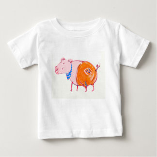Schweinchen in leather trousers baby T-Shirt
